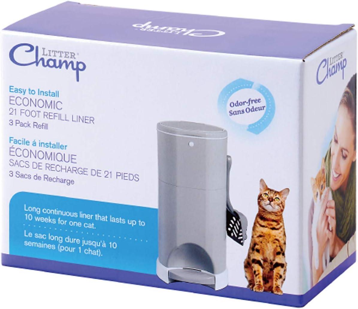 Litter Champ 3-Pack Refill, Green : Litter Box Liners : Pet Supplies