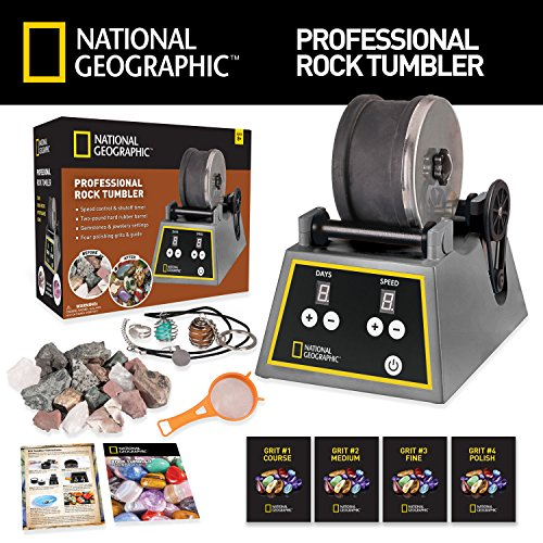 Professional Rock Tumbler by NATIONAL GEOGRAPHIC (Improved Quality Sept. 2016) by National Geographic (Image #1)
