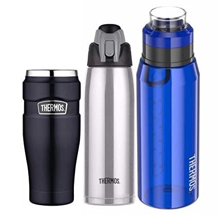 Amazon.com: Thermos Vacuum Insulated Travel Drink Bottle and ...