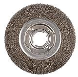 Weiler 6150 Face Crimped Wire Wheel, 10'' Medium, 0.118'' Steel Fill, 2'' Arbor Hole