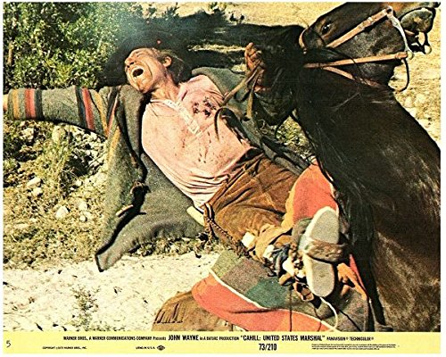 Cahill United States Marshall Original Lobby Card Neville Brand Gets Shot from Silverscreen