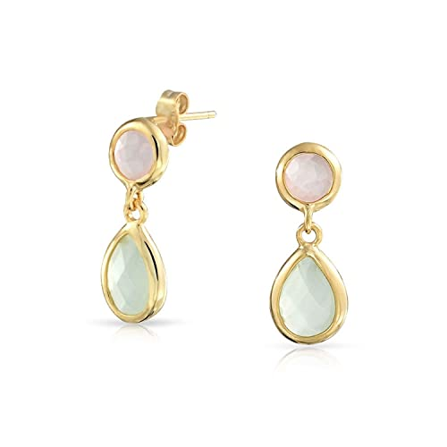 Jewelry & Watches Fashion Jewelry Dynamic Rose Gold Necklace Chain Dangling Earrings Set Pink Oval
