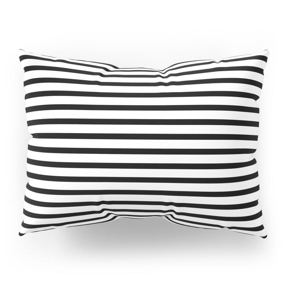Society6 White Black Stripe Minimalist Pillow Sham Standard (20'' x 26'') Set of 2