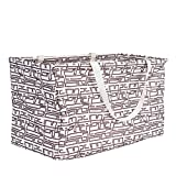 Household Essentials 2213 Krush - Bolsa de Lona Multiusos, Reutilizable, Color Beige, Geométrico, Geometric, 1