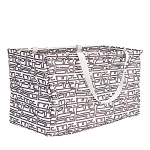 Household Essentials 2214 Krush Canvas Utility Tote | Reusable Grocery Shopping Bag | Laundry Carry Bag Geometric
