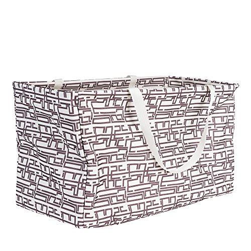 Household Essentials Rectangular Krush Canvas Tote Bag, Geometric (Vinyl Storage Basket)