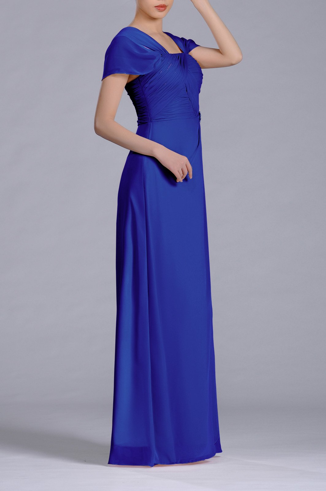 65ee68862f5b Home/Brands/Adorona Dresses/Formal Pleated Chiffon Bateau Sleeveless Sheath  Long Mother of The Bride Groom Dress, Color Royal Blue,20W. ; 