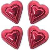 Madelaine Solid Premium Milk Chocolate Mini Hearts Wrapped In Italian Foil - 1 LB (Red, 1 LB)