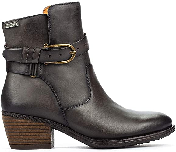 Pikolinos Womens Baqueira W9M-8563 Ankle Boot with Buckle Trim