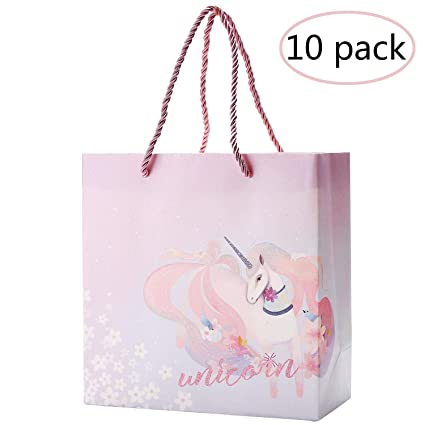 9c23e5ce7d8f Amazon.com: zsnice Unicorn Party Bags 10 pcs Shiny Thick, Gift Bags ...
