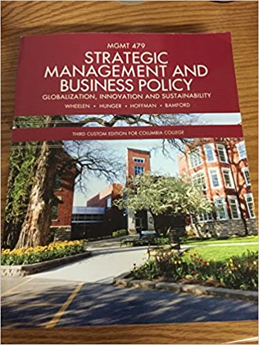 Strategic Management And Business Policy J David Hunger Alan N