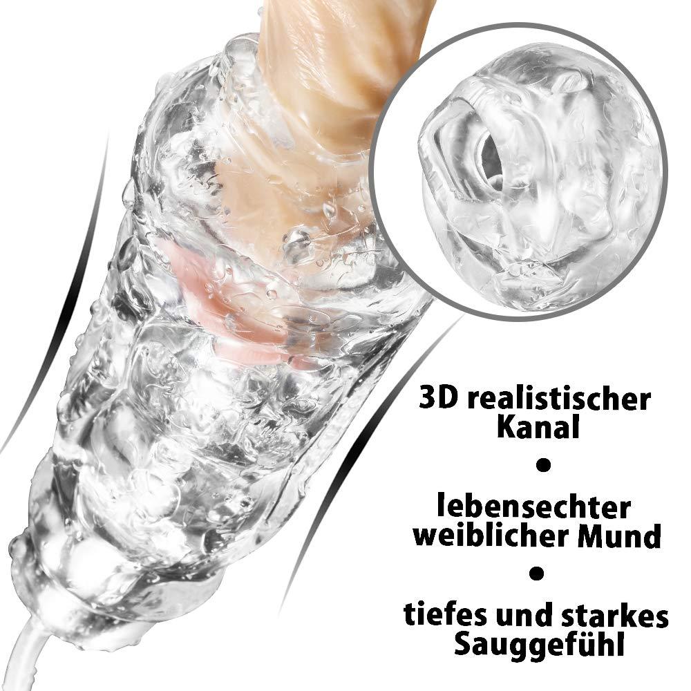 (2.0 Neu) Automatischer Masturbator Cup Saugfunktion Super starke Leistung Elektrische Oral Masturbatoren 3D Realistische Silikon Sex Spielzeug für Männer