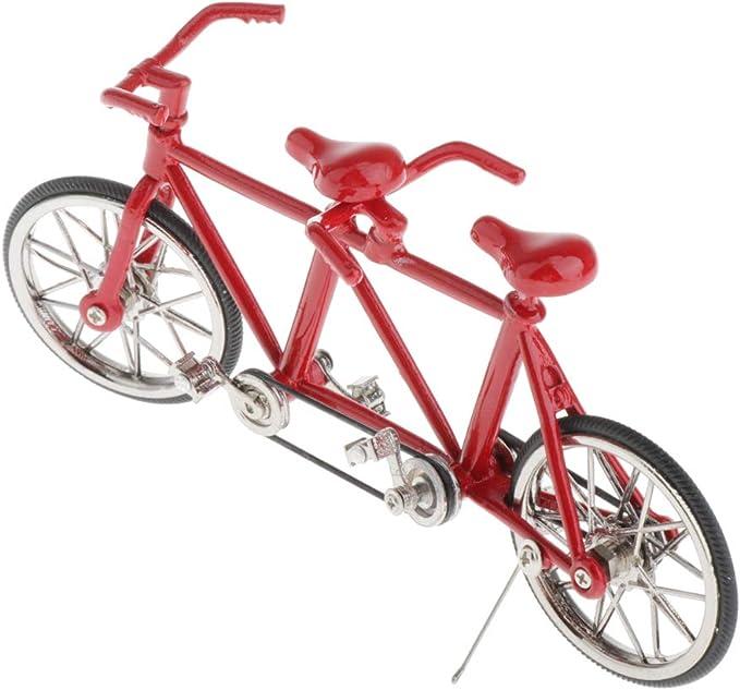 perfeclan Escala De Aleación 1:16 Tandem Bike Bicicleta Modelo ...