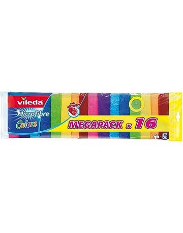 Vileda - Pack de bayetas multiusos de microfibra colors vileda, colores surtidos