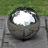 PROKTH 304 Stainless Steel Gazing Balls, 300mm Hollow Ball Globes Floating Pond Balls Seamless Mirror Ball Sphere for Home Garden Ornament Decoration