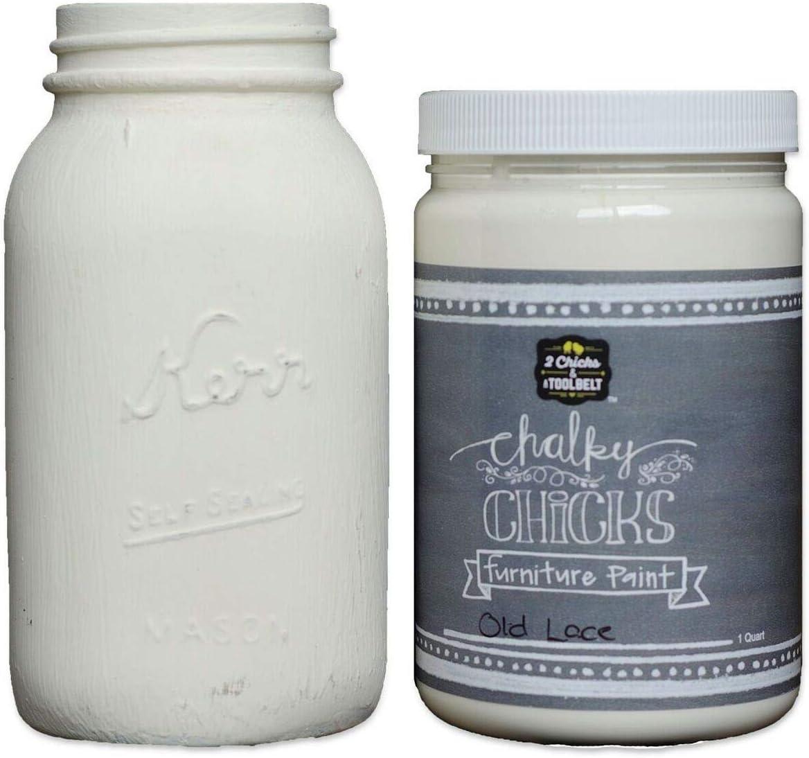 Chalk Finish Paint - Furniture & Cabinet Paint (32 oz, Old Lace)
