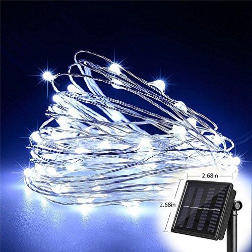 T HomeLight Solar String Lights, White 300Leds