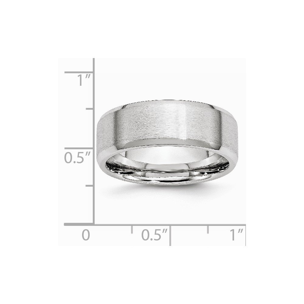 Cobalt Beveled Edge Satin and Polished 8mm Band Size