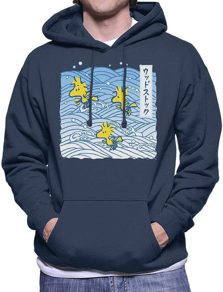 Peanuts Woodstock Japan Waves Mens Hooded Sweatshirt