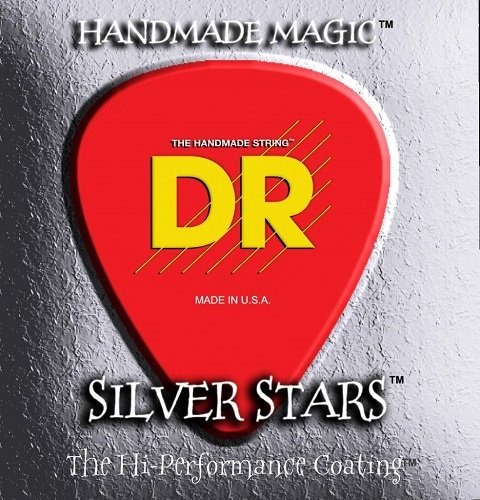 (DR Strings Silver Stars - Extra-Life Silver Coated Electric 11-50 )
