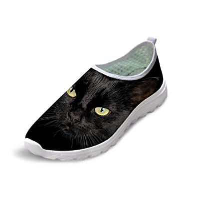 Cat In Dark Breathable Fashion Sneakers Running Shoes Slip-On Loafers Classic Shoes