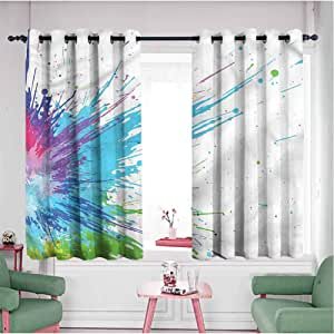 Amazon.com: Abstract Kids Room Decor Panels 72 inches Long ...
