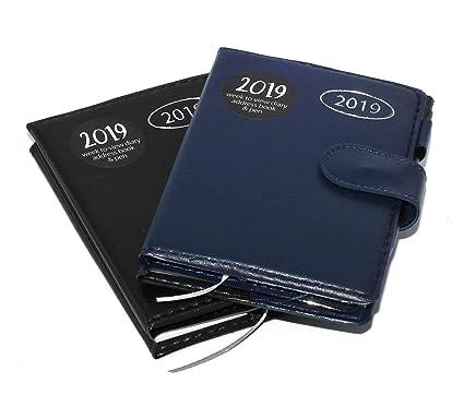 Agenda 2018 delgada, vista semanal, cierre magnético, de ...