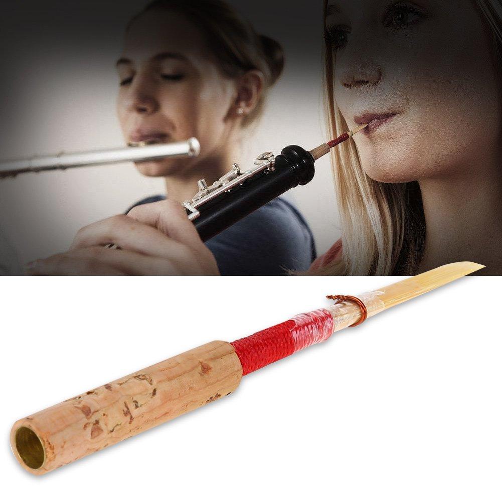 forza medio morbido rosso sughero mano oboe ance oboe Reed con tubo trasparente manicotto Dilwe oboe Reed
