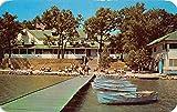 Clark Lake Michigan Pleasant View Hotel Pier View Vintage Postcard K50662