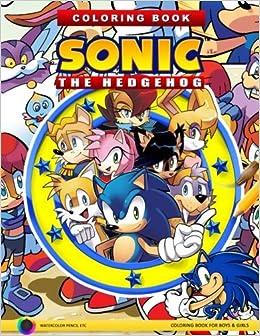 Amazon Com Sonic The Hedgehog Coloring Book 9781725077171