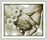 Happy Hand In Hand Printed Canvas DMC Stamped Cross Stitch Kits DIY Cross-Stitch Pattern Set Hand Embroidery...