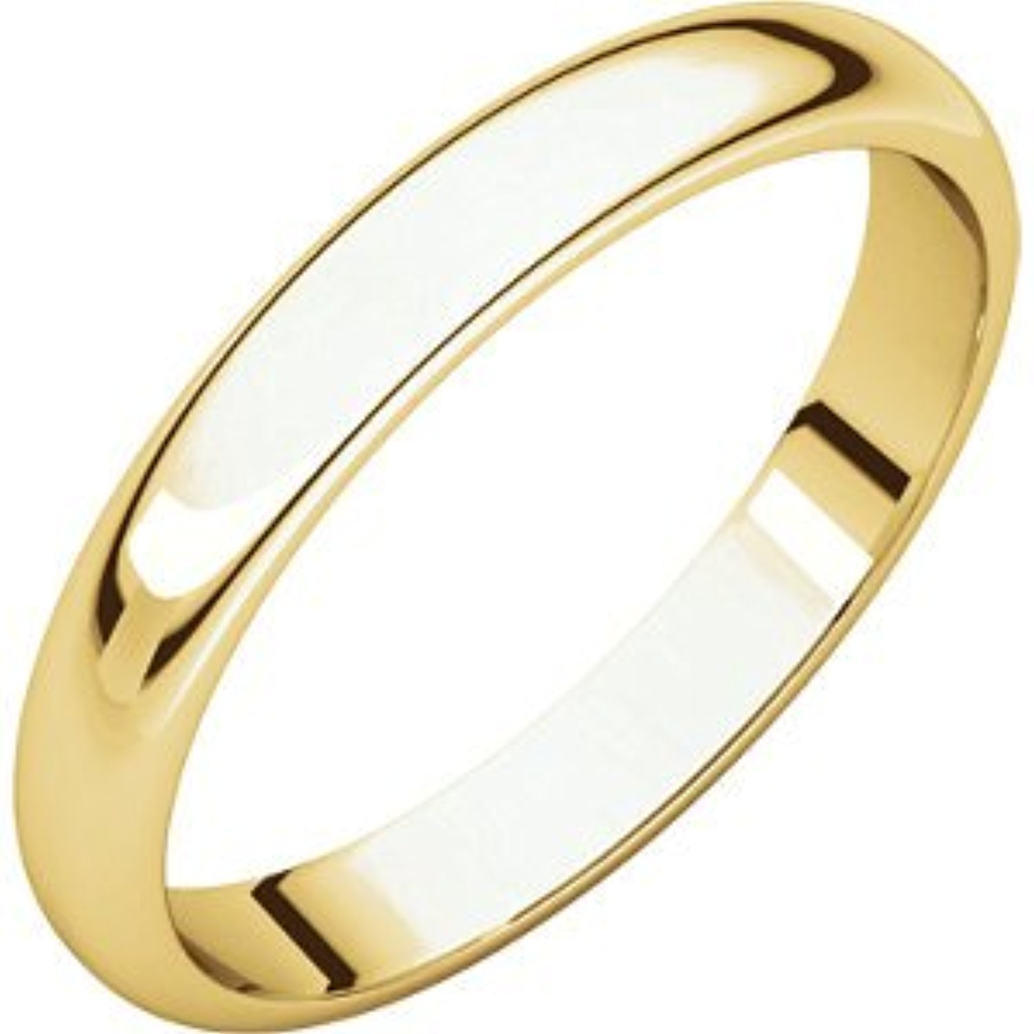 Size 11 14K Yellow Gold Light Half Round Band
