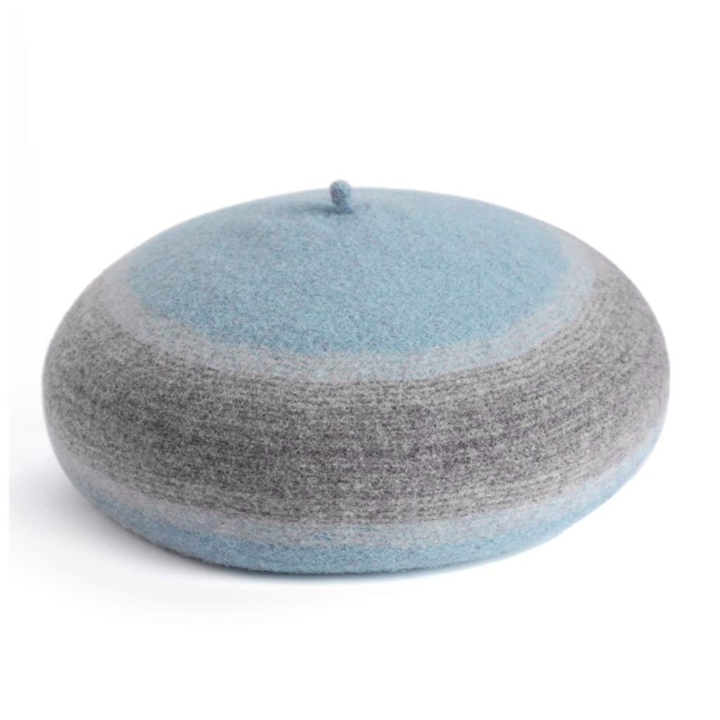 A Hat, Cute Autumn and Winter Wool Beret Fashion Wool Cap Knitted Hat (color   F)