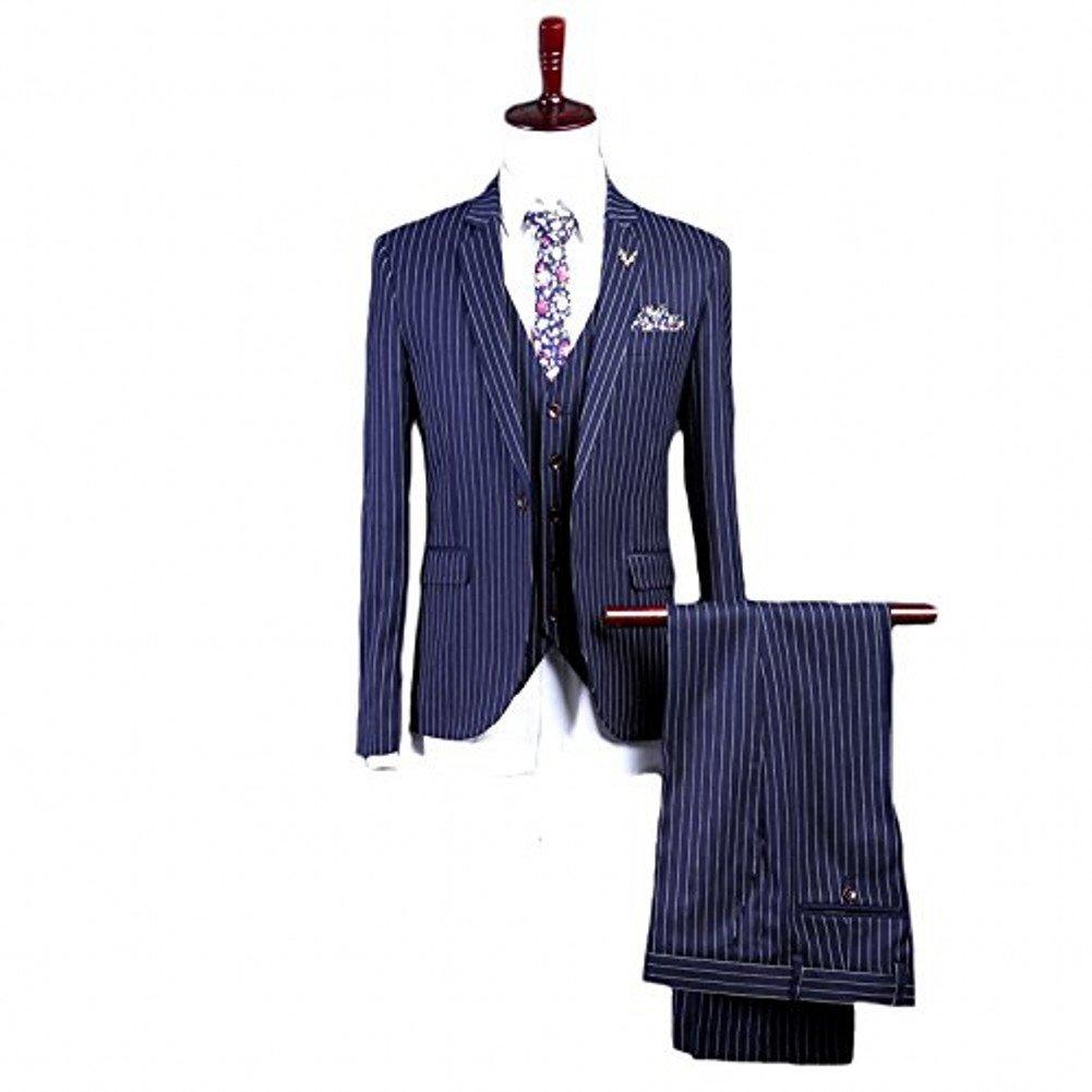 Love Dress Men's 3-Piece Suit Blazer Jacket Tux Vest & Trousers 5XL