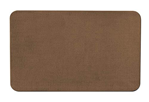 House, Home and More Skid-Resistant Carpet Indoor Area Rug Floor Mat – Toffee Brown – 3 Feet X 5 Feet