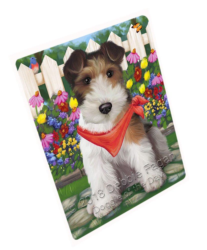 "Spring Floral Wire Hair Terrier Dog Large Refrigerator/Dishwasher Magnet RMAG73908 (18"" x 24"")"