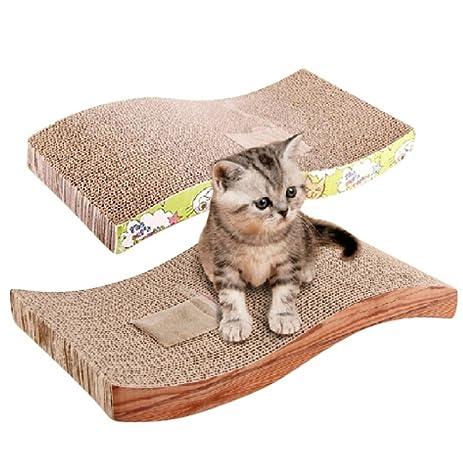 Bestanx Cat Scratch Board Corrugated Paper Cat Scratch Pad Mat Bed Protect  Furniture And Cat Paw