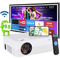 [2021 Upgrade Android WiFi Projector] 8500 Lumens LED Smart Full HD1080P Projector ± 15° 4D Keystone X / Y Zoom 8000:1…