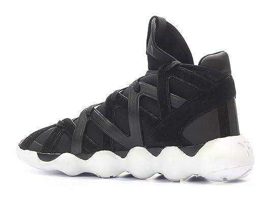adidas Y 3 BB4739 Herren Schwarz Stoff Hi top Sneakers