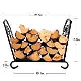 Fireplace Log Holder Wrought Iron Indoor Fire