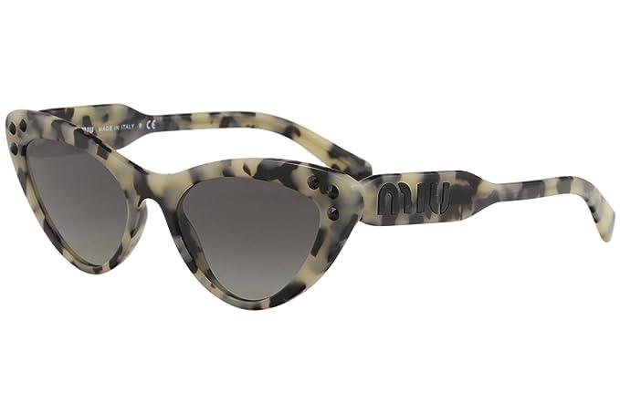 5ae314a0bc9 Miu Miu LOGOMANIA SMU 05T BEIGE HAVANA GREY SHADED women Sunglasses ...