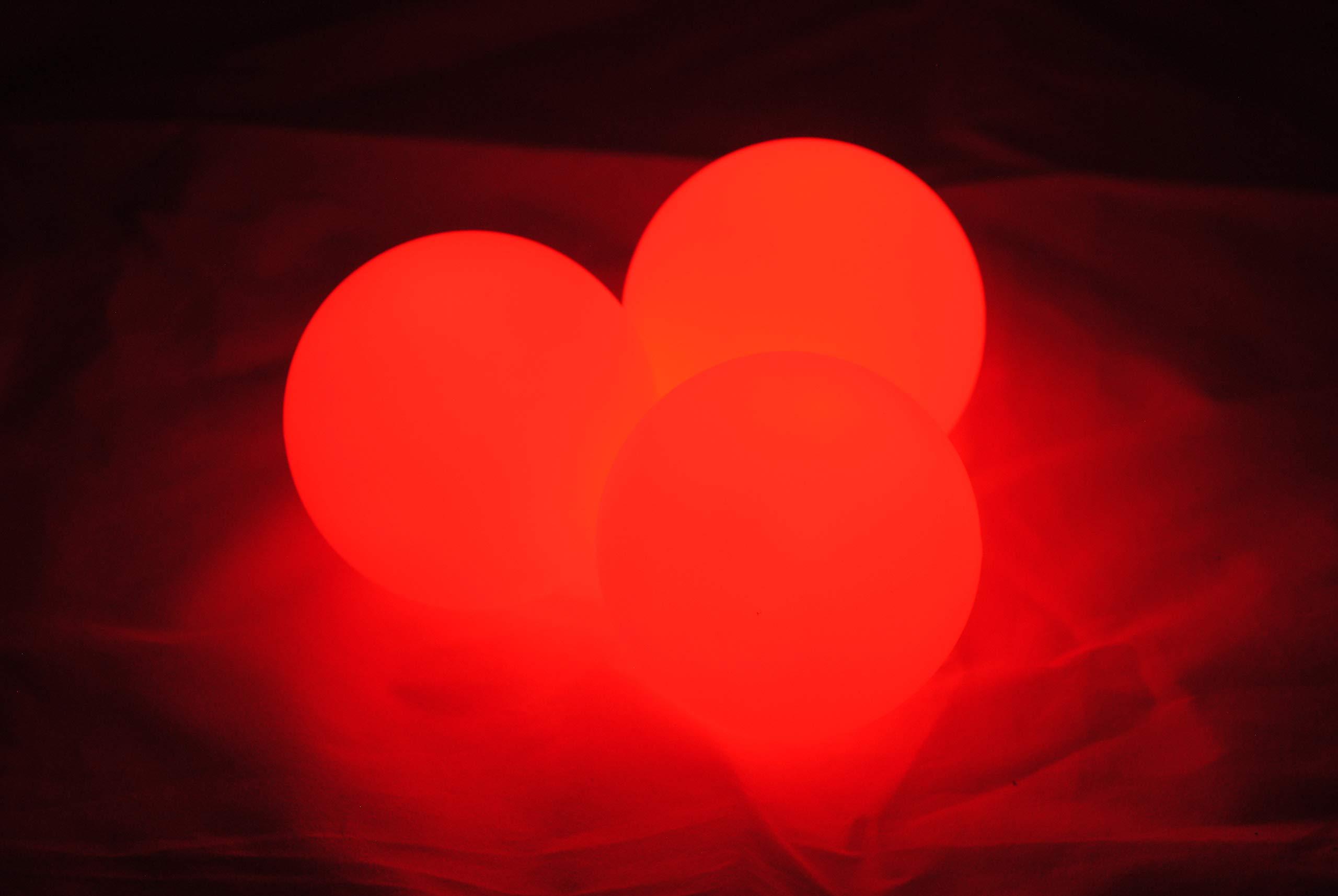 Higgins Brothers Luster LED Light-Up Juggling Balls (Red) by Higgins Brothers