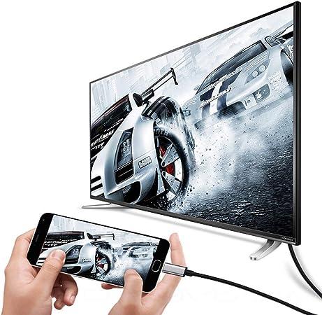 Cable USB C3.1 a HDMI Tipo C a HDMI Compatible con 4 K 60 Hz para más teléfono móvil/Tableta/Ordenador portátil: Amazon.es: Electrónica