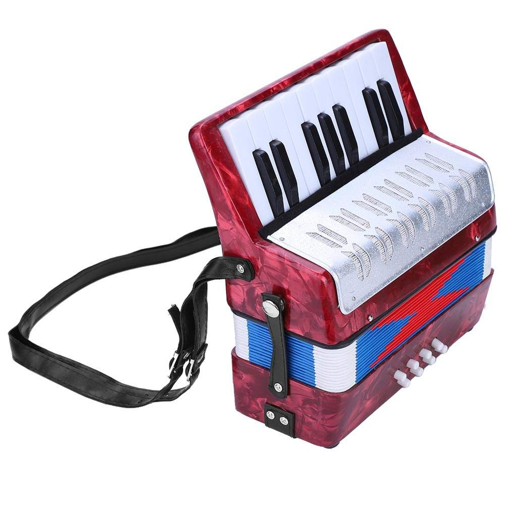 Children Accordion Music Toy 17 Key 8 Bass Accordion Educational Toys Music Instruments for Beginners Students 4 Colors (Red) by Tbest (Image #6)