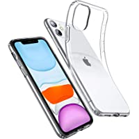 ESR Case for iPhone 11 [2019 Model, 6.1-Inch], Case Cover with Slim Clear Soft TPU, 1.1 mm Thick Back Case, Shock-Absorbing Air-Guard Corners, Flexible Silicone Cover, Clear