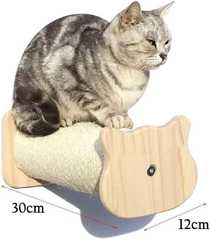 SHIJINHAO-Árbol de gato Multifuncional Montado En La Pared Escalera Madera Maciza Combinación Aleatoria Condominio Plataforma De Salto Cápsula Espacial, 14 Estilos (Color : Beige, Size : 12x30 cm): Amazon.es: Hogar