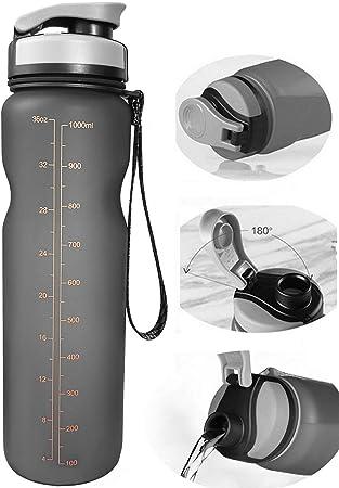 Amazon.com: Botella de agua deportiva Eskiee, 35 onzas con ...