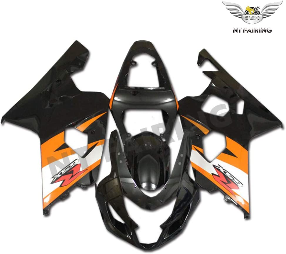 NT FAIRING Black Injection Mold Fairings Fit for Suzuki 2004 2005 GSXR 600 750 K4 04 05 GSX-R600 Aftermarket Painted Kit ABS Plastic Motorcycle Bodywork