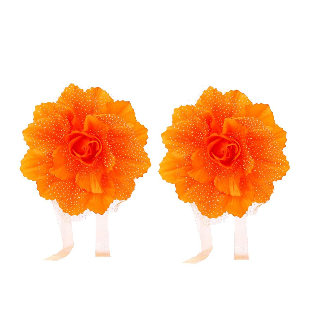 2Pcs Best Peony Flower Curtain Clip-on Tie Backs Holdback Tieback Holder Panel