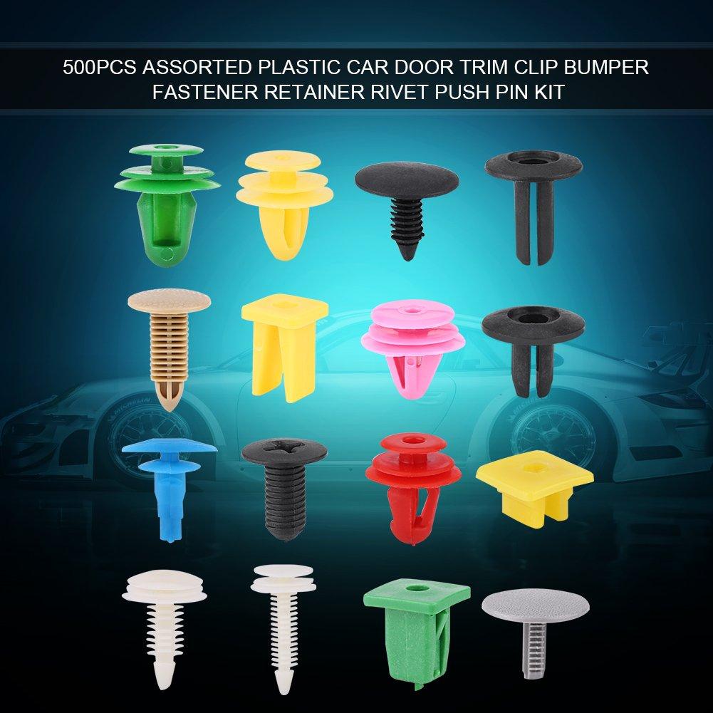 500 pezzi universale pannello interno fodera paraurti fissaggio fermacavo rivetto push pin kit assortiti plastica portiera auto ritaglio clip
